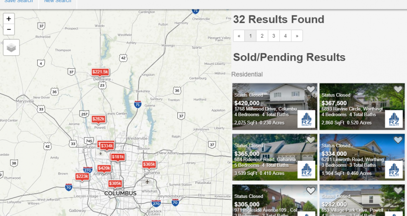 Looking for recently sold listings in Columbus?